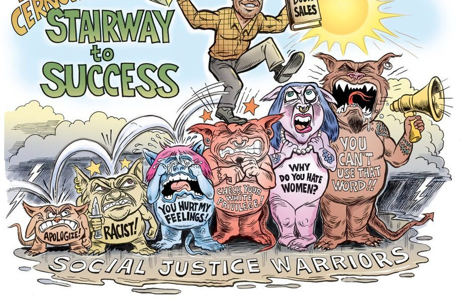 Cartoon Commission Mike Cernovich's Stairway to Success!