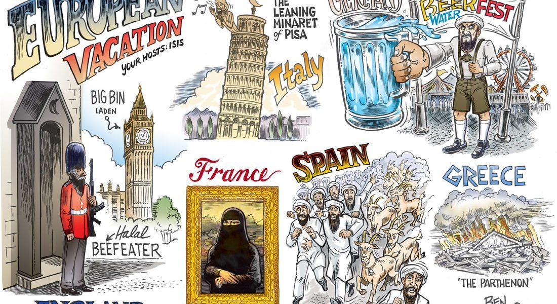 "Exclusive cartoon ""European Vacation 2050"""