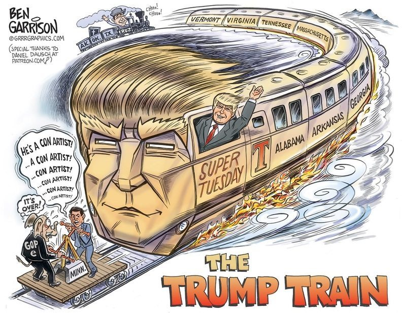 Trump Train rolls over Rubio
