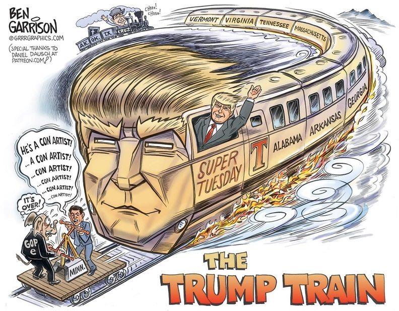Trump Train rolls over Rubio