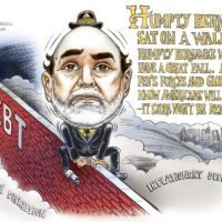 Humpty Bernanke Sat on a Wall cartoon by Ben Garrison