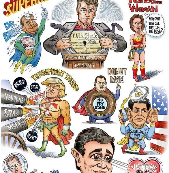 Ben Garrison's Superheroes of the GOP Debate