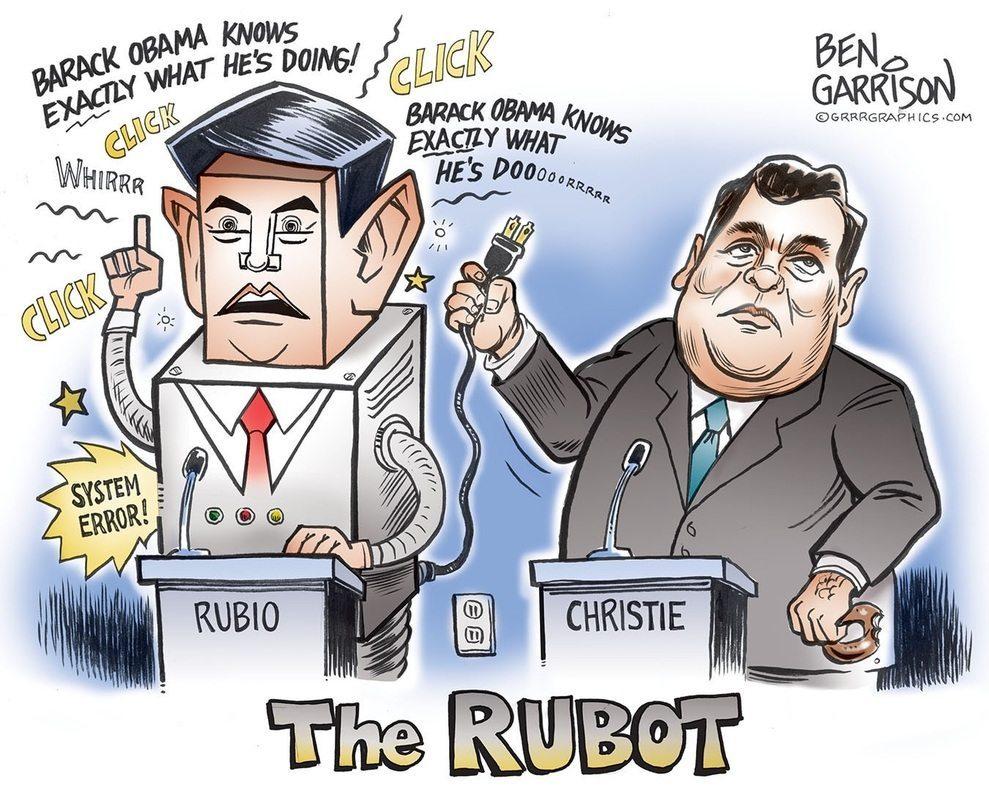 Chris Christy pull Marco's Robot Plug