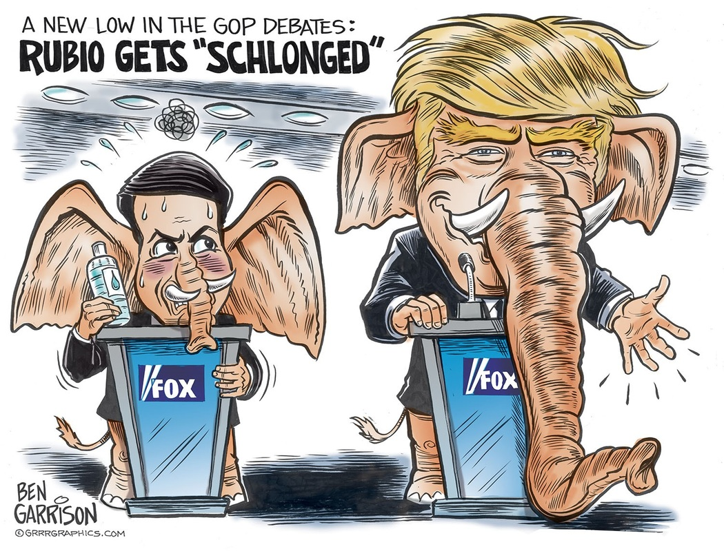 Marco Rubio has smaller Schlong than Donald Trump
