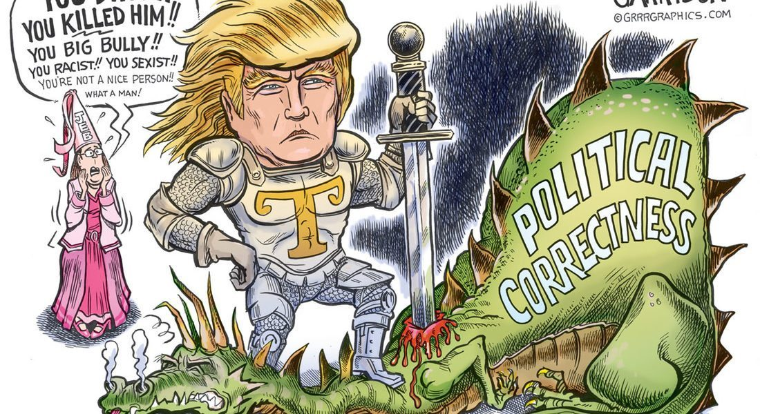 Trump the Dragon Slayer Cartoon