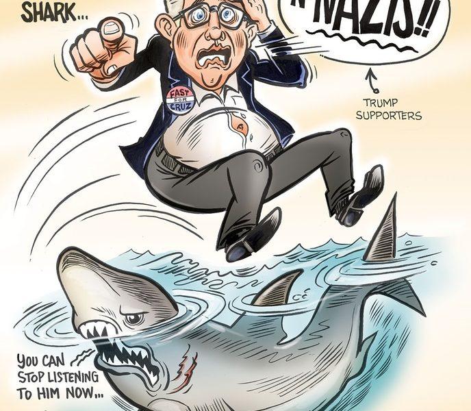Glenn Beck Jumps One of Many Sharks