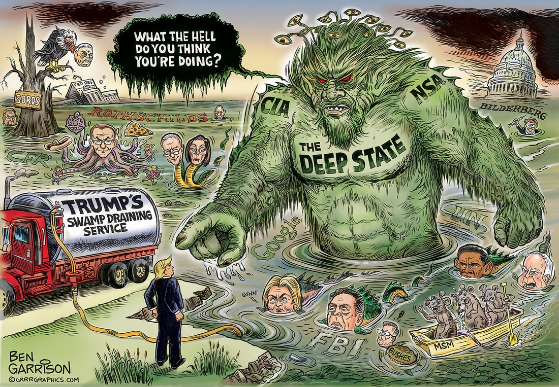 Image result for trump draining swamp