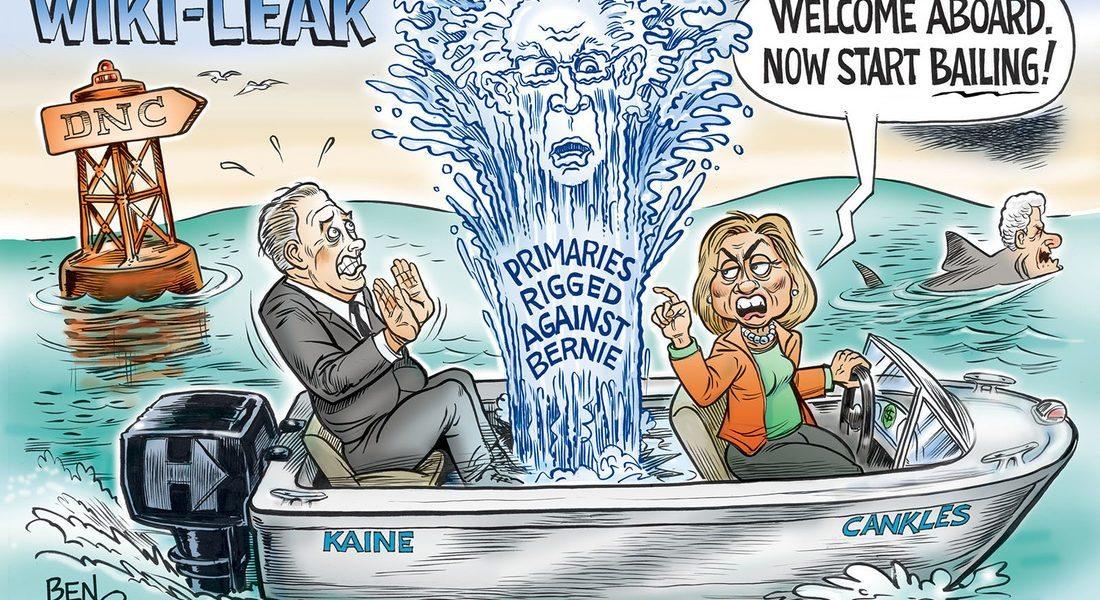 Hillary's Wiki-Leak, Start Bailing!