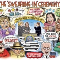 Trump Inauguration Swearing In Ceremony cartoon by Ben Garrison