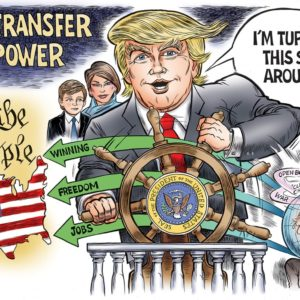 Inauguration Trump cartoon by Ben Garrison