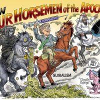 New Four Horsemen of the Apocalypse cartoon by Ben Garrison