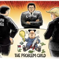 North Korea Problem Child cartoon by Ben Garrison