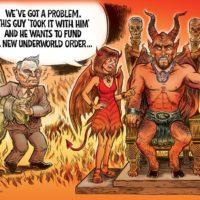 Rockefeller in Hell cartoon by Ben Garrison