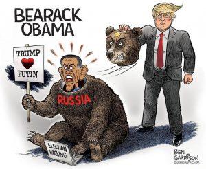 Russian Bearack Obama cartoon by Ben Garrison