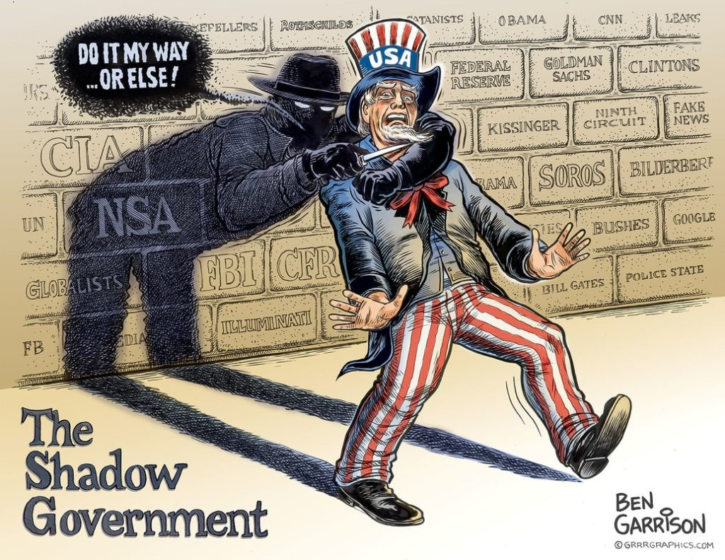Shadow Government cartoon by Ben Garrison