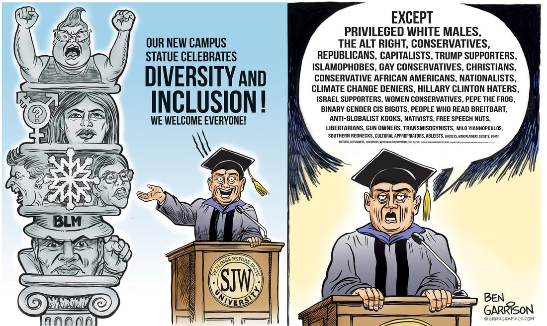 SJW University cartoon by Ben Garrison