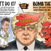 Syria Decision Angels and Demons cartoon by Ben Garrison