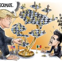 Trump 3d Chess New Game In Town cartoon by Ben Garrison