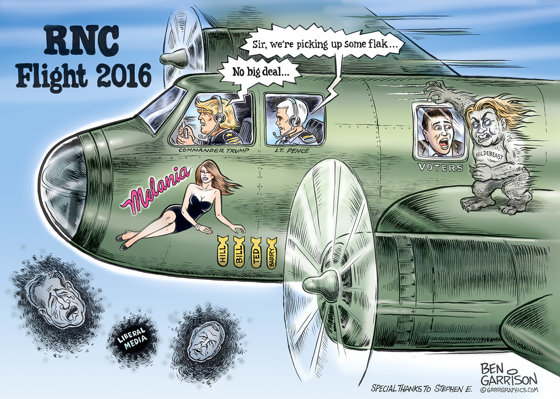 RNC Flight 2016 Trump Pence