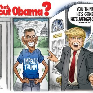 What About Obama cartoon by Ben Garrison