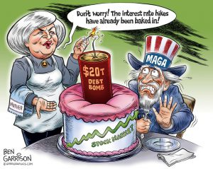 Yellen Debt Bomb cartoon by Ben Garrison