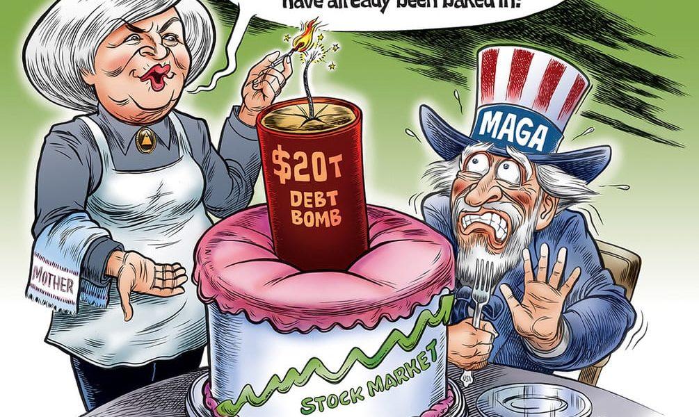 Mother's Debt Bomb Cake