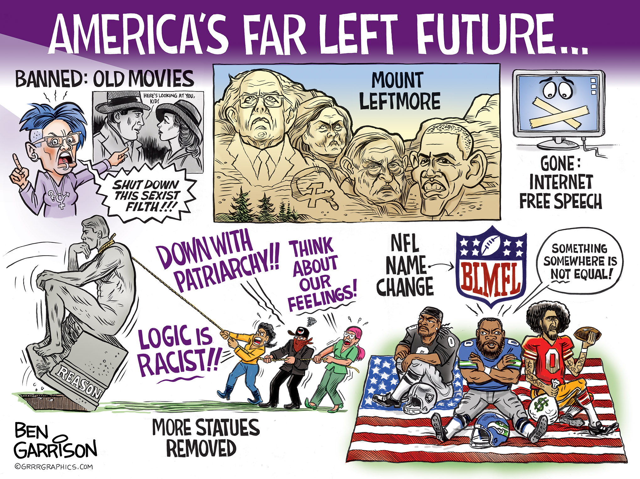 Image result for ben garrison americas far left future