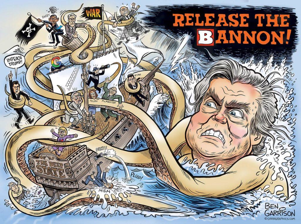 Steve Bannon >> Grrr Graphics - Ben Garrison, Rogue Cartoonist