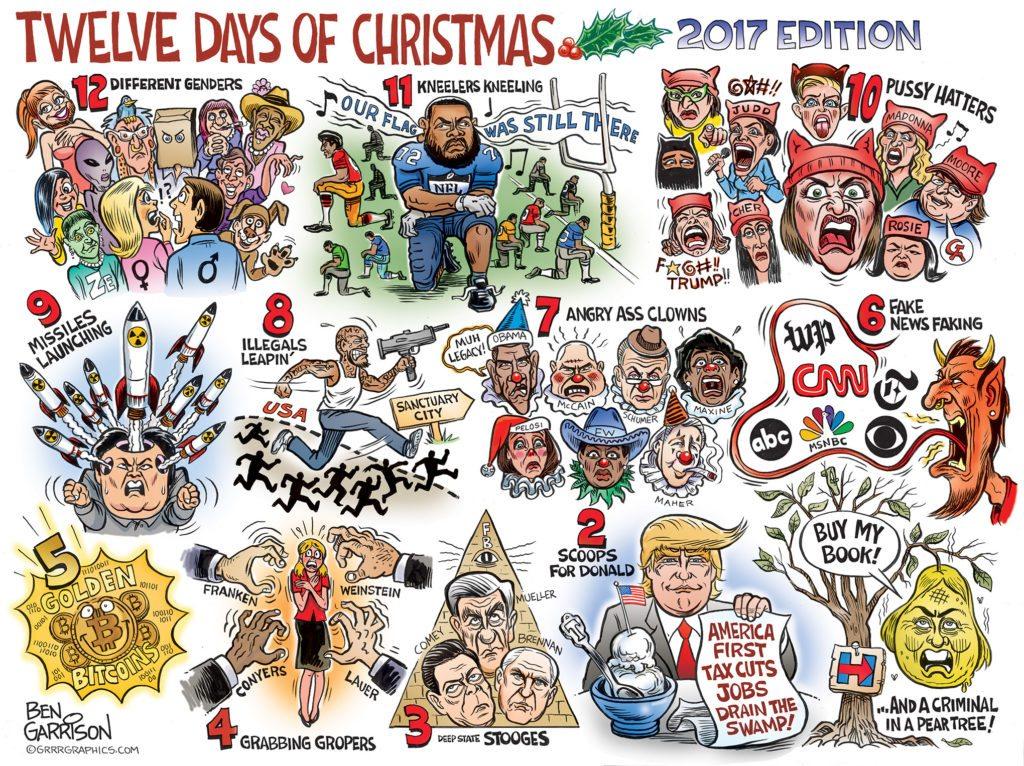 christmas cartoon 2017 1024x766 - The Twelve Days of Christmas 2017