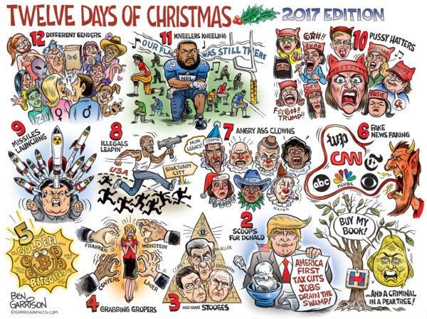 christmas cartoon 2017 600x449 - The Twelve Days of Christmas 2017