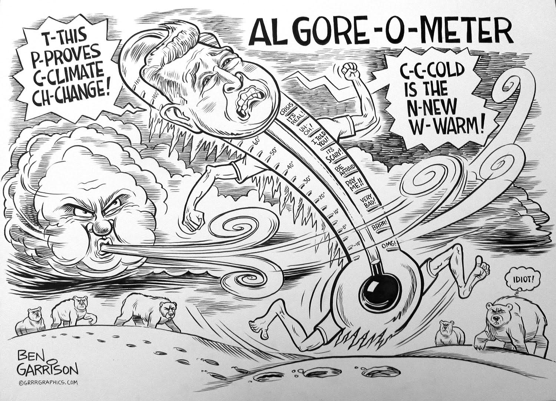 An Inconvenient Fraud cartoon original by Ben Garrison