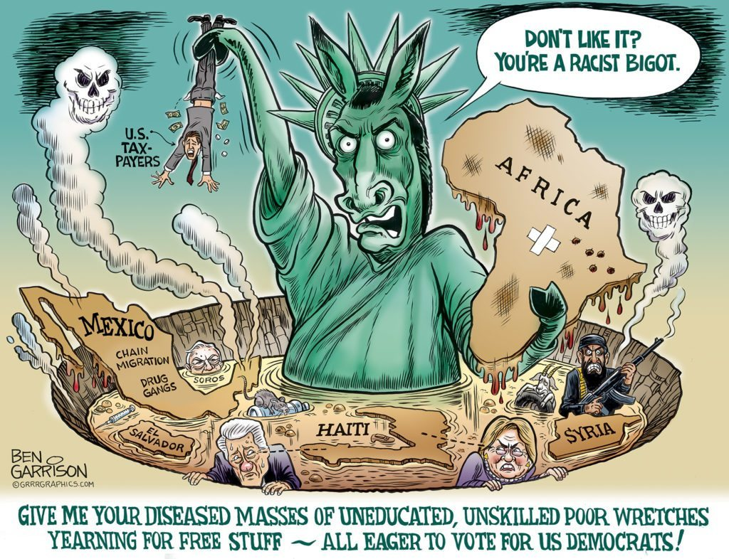 The Hole Truth about Immigration cartoon by Ben Garrison