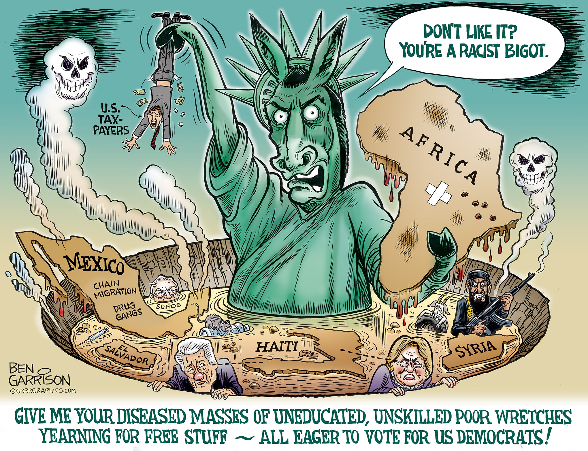 Image result for ben garrison immigration