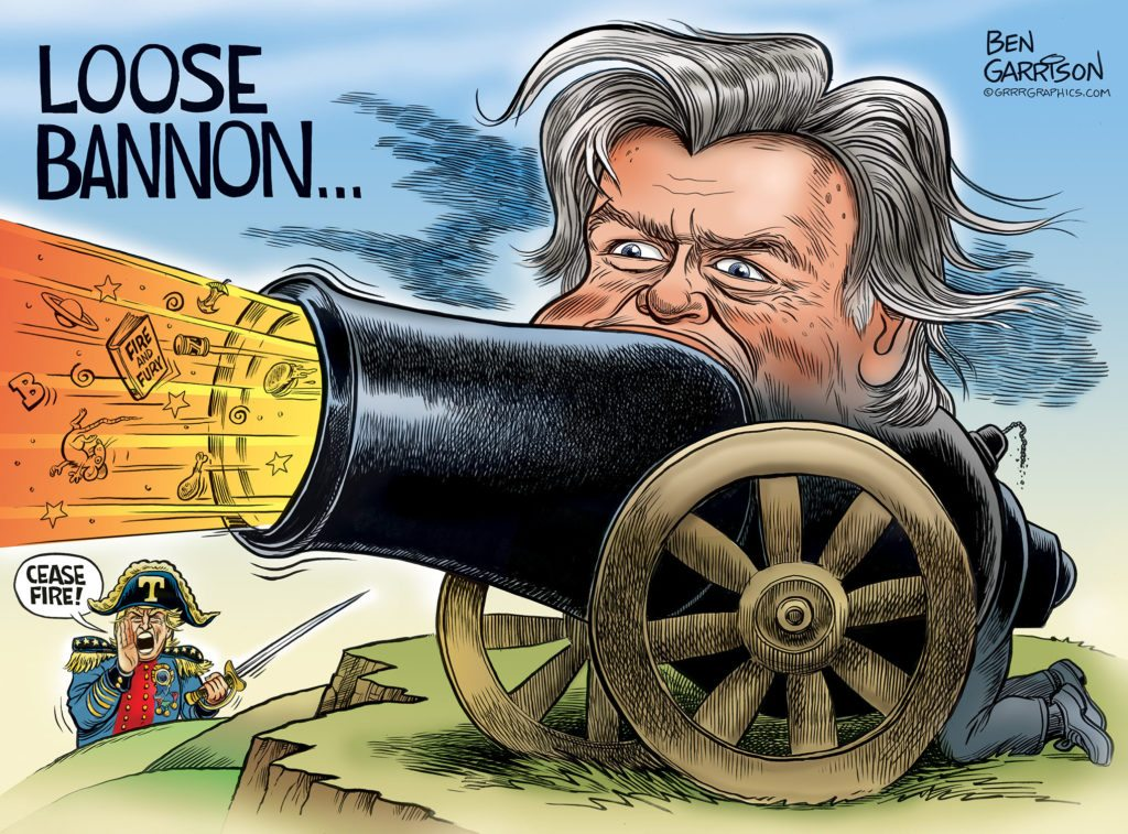 Loose Bannon cartoon by Ben Garrison