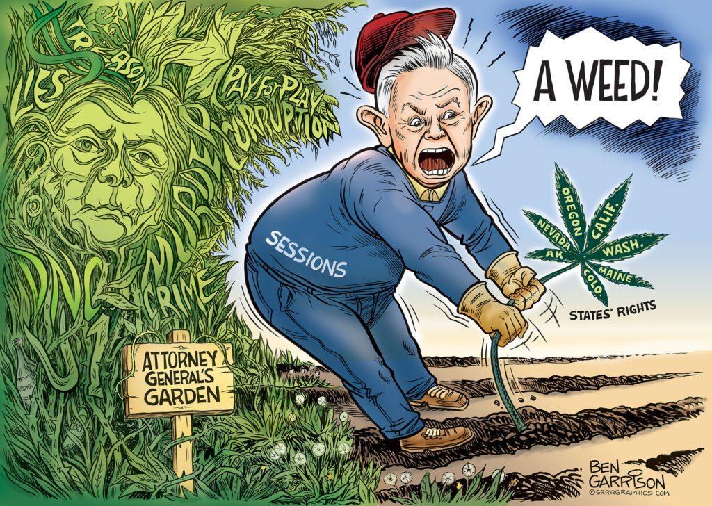 Attorney General Session's Garden cartoon by Ben Garrison