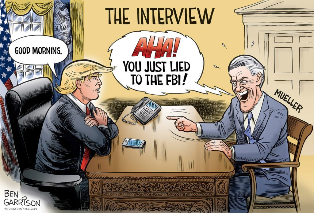 The Trump Mueller Interview cartoon by Ben Garrison