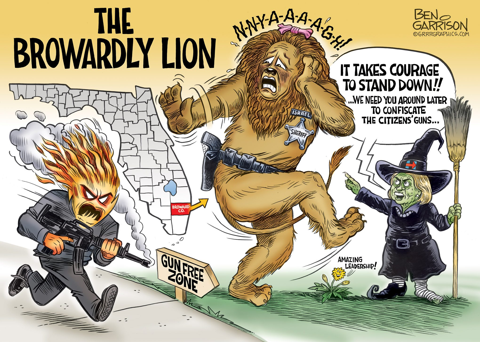 The Browardly Lion