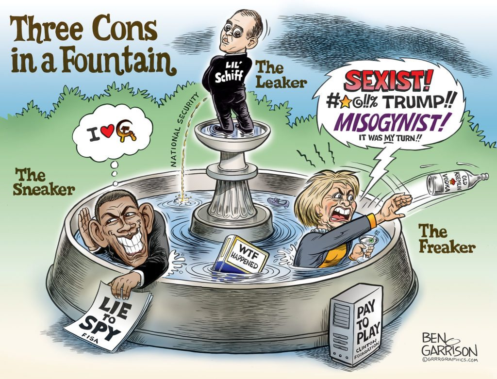 Three Cons in a Fountain
