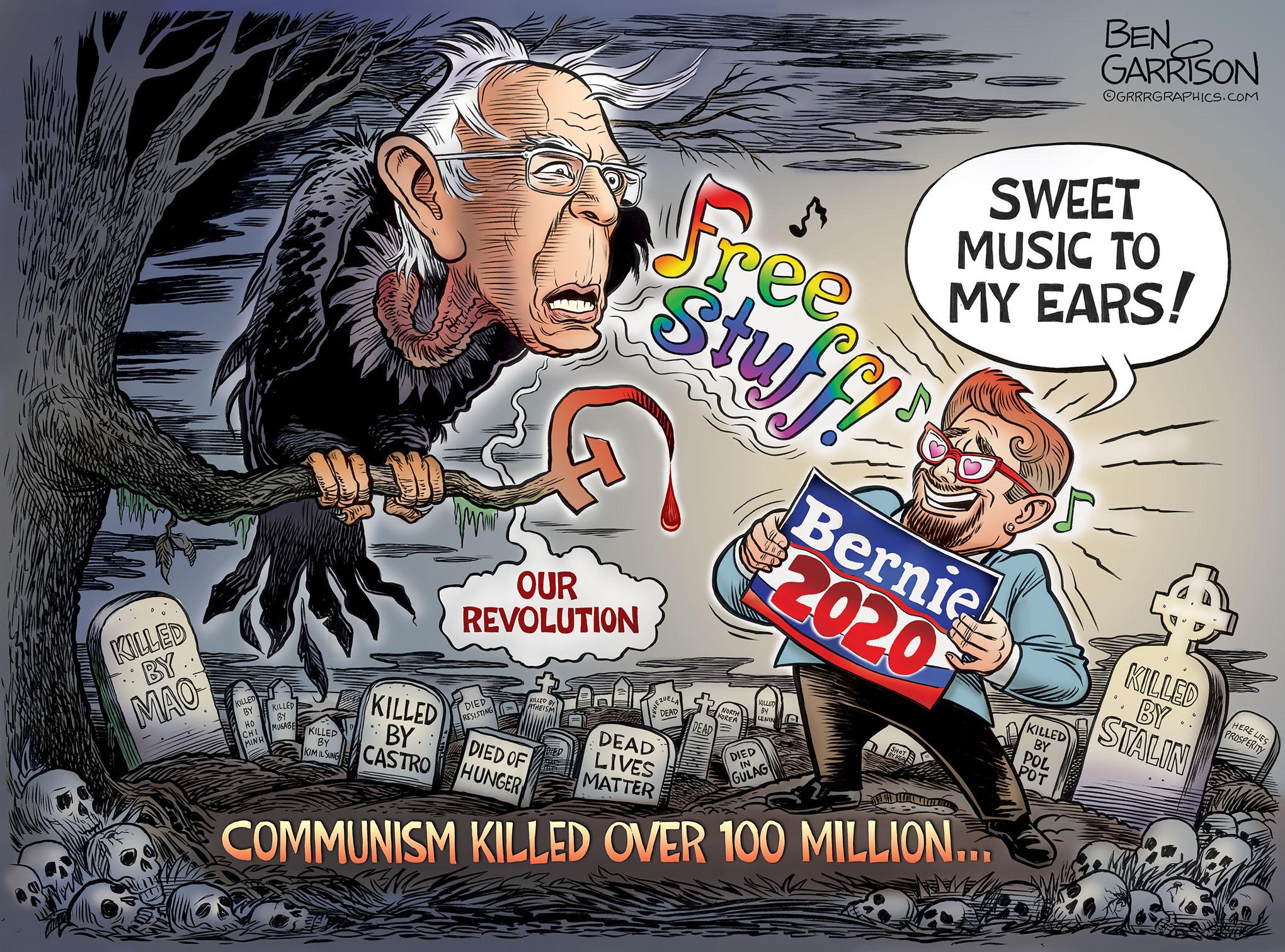 Bernie's Graveyard by Ben Garrison