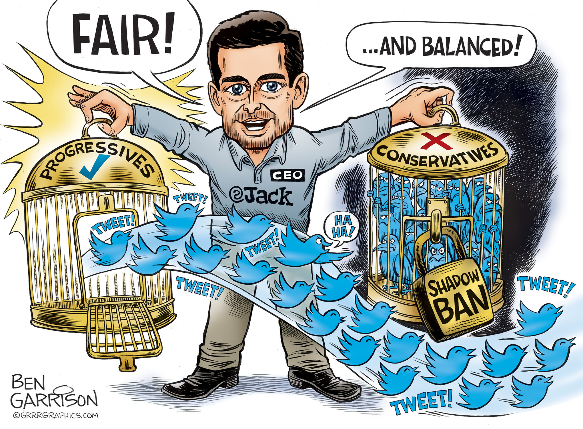 "Twitter Jack, ""Controlling the Conversation"" – Grrr Graphics"