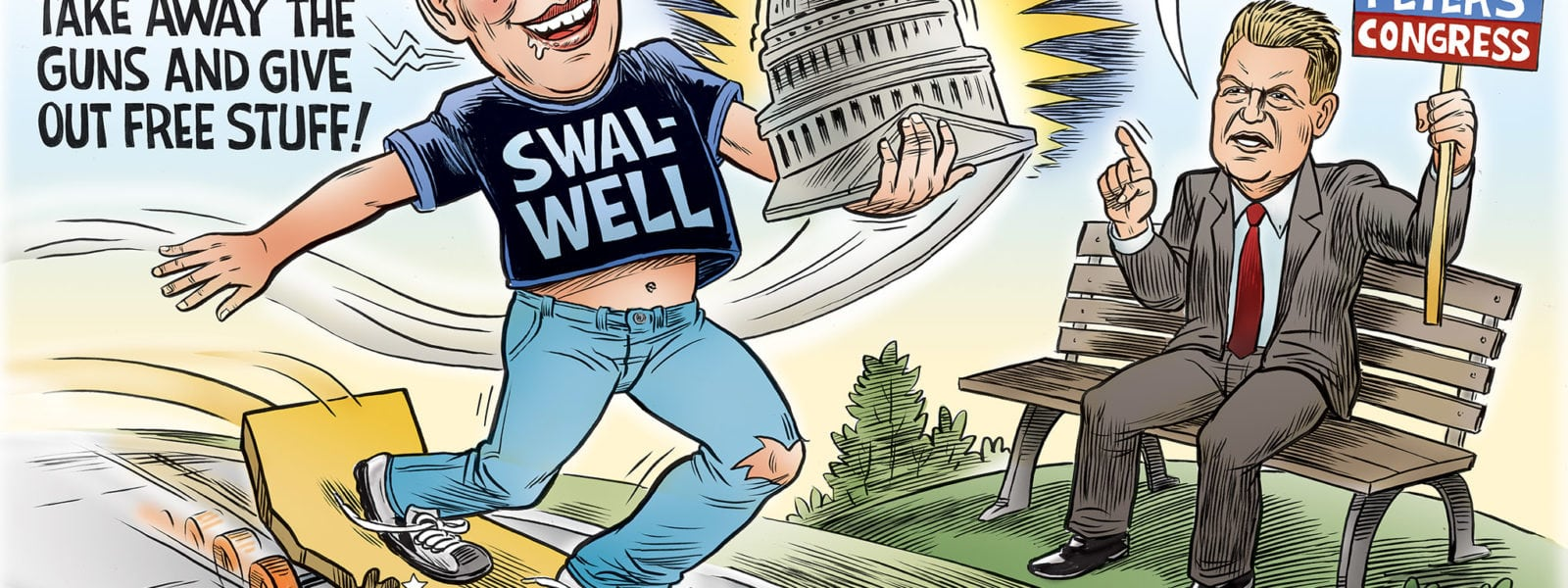 The Boy Eric Swalwell Vs Rudy Peters the Adult