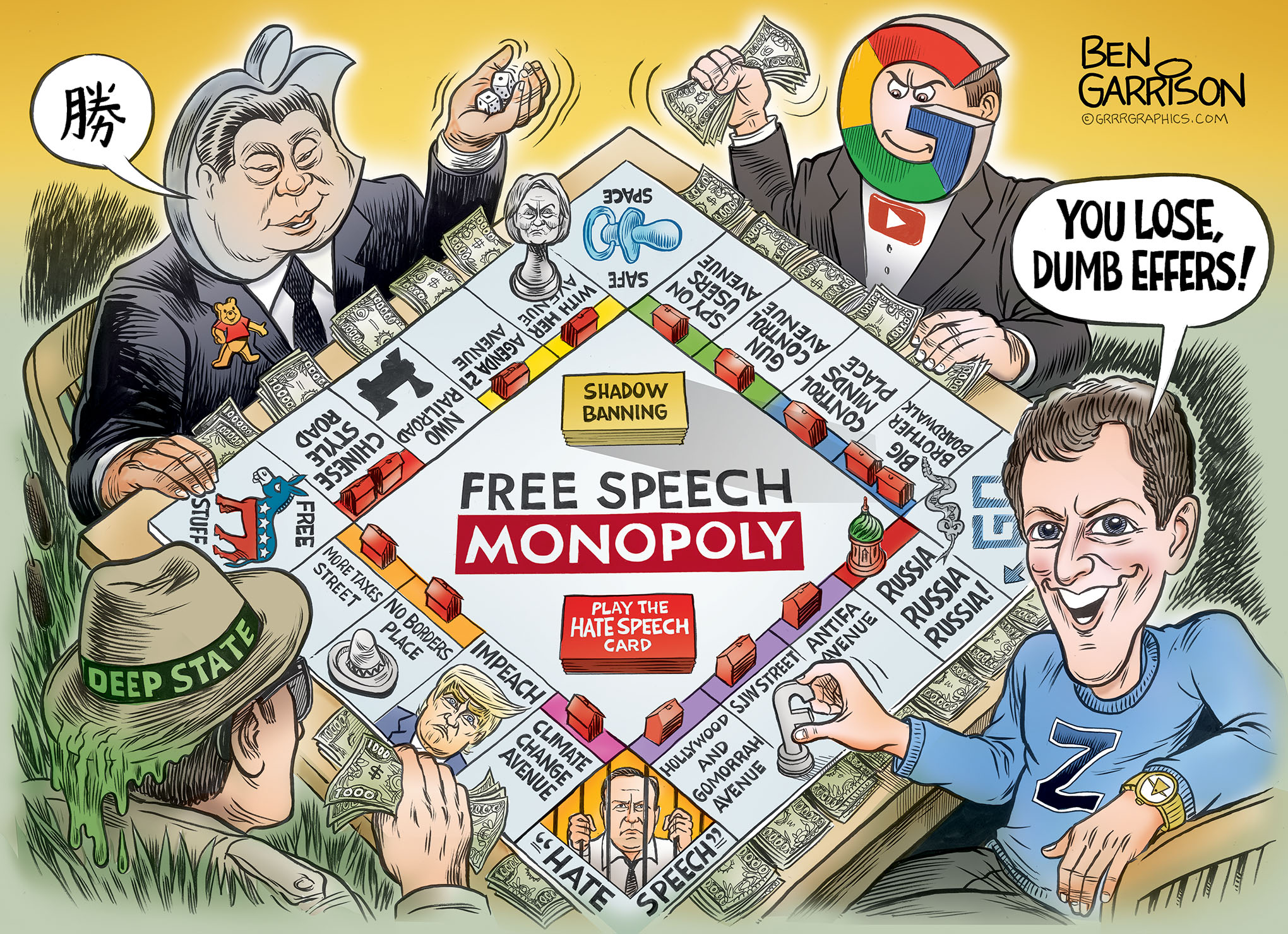 Image result for ben garrison censorship monopoly