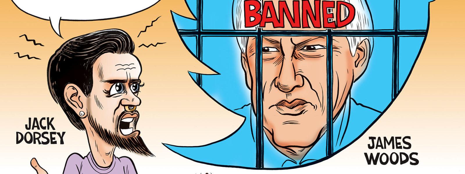 Twitter Jack Censors James Woods