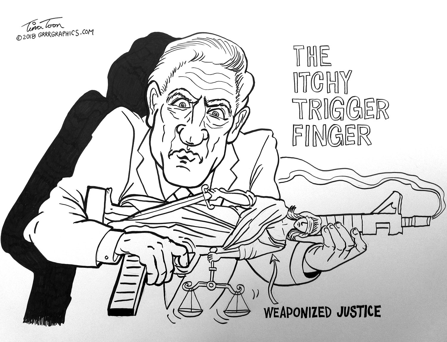 Image result for Mueller's Itchy Trigger Finger Tina Toon