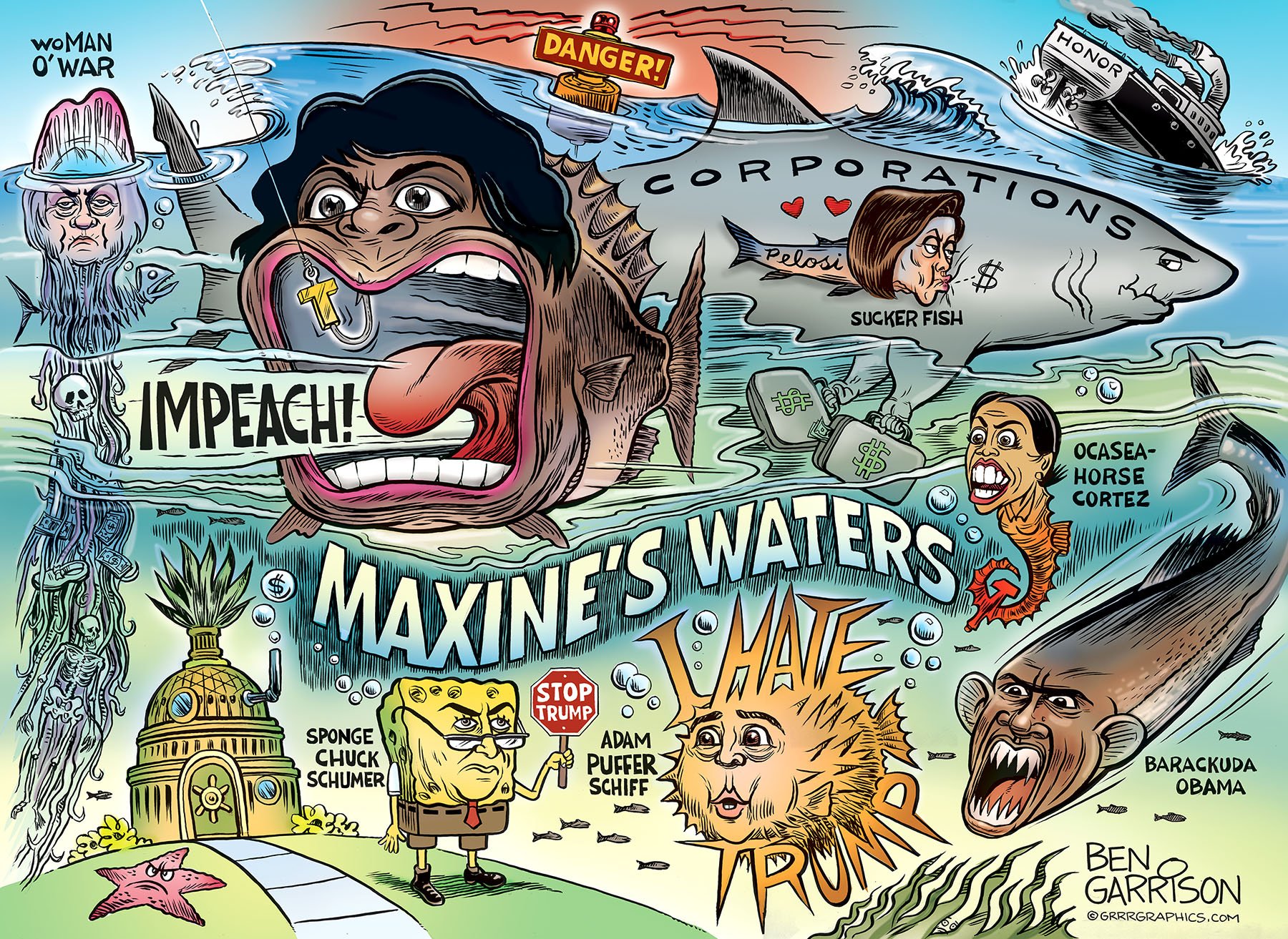 Image result for ben garrison maxine waters