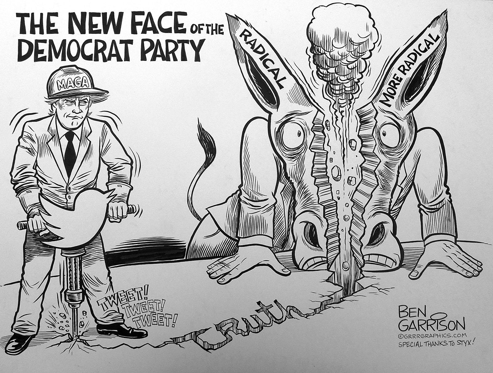 Trump Divide And Conquer Ben Garrison Cartoon Conservative Daily