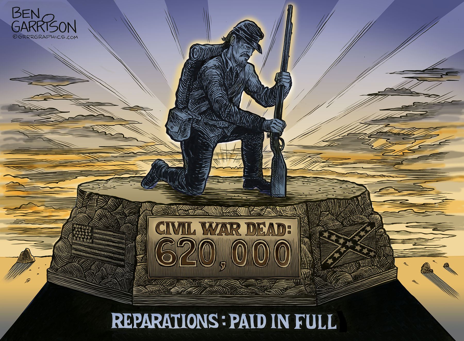 Image result for REPARATIONS PAID IN FULL BEN GARRISON