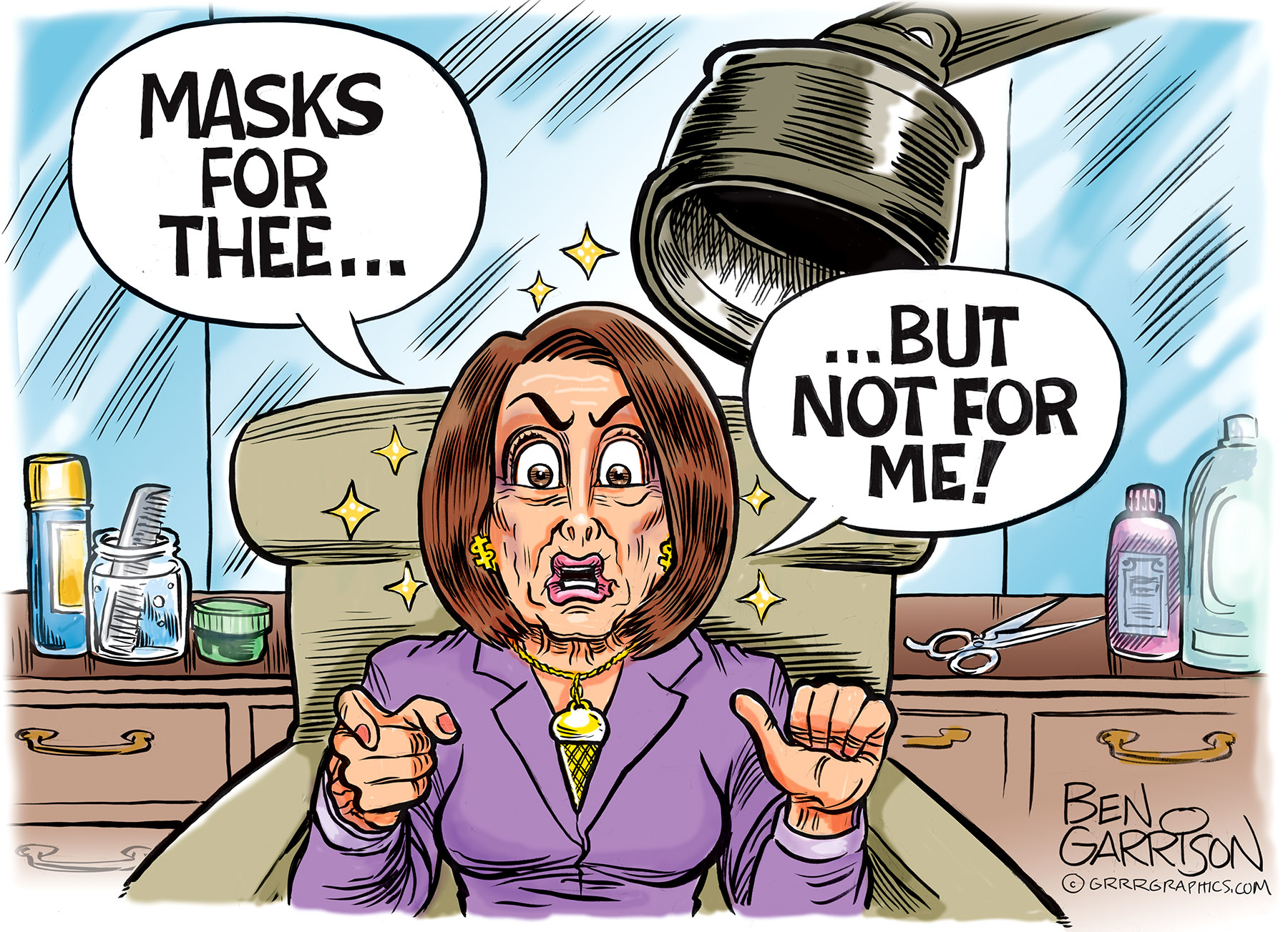 Pelosi S Hair Dos And Don Ts Ben Garrison Cartoon Conservative Daily News