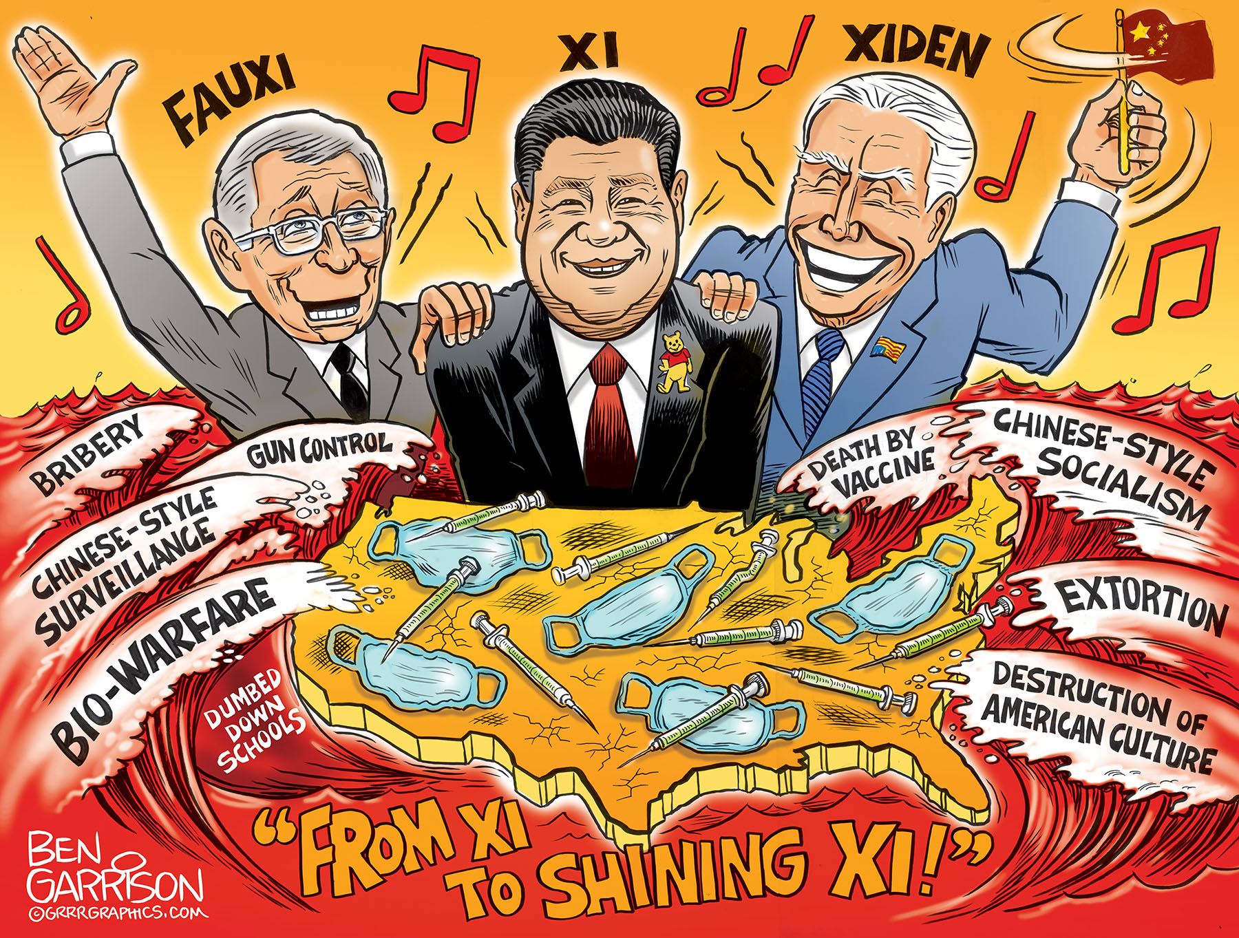 Xi to Shining Xi United States of China